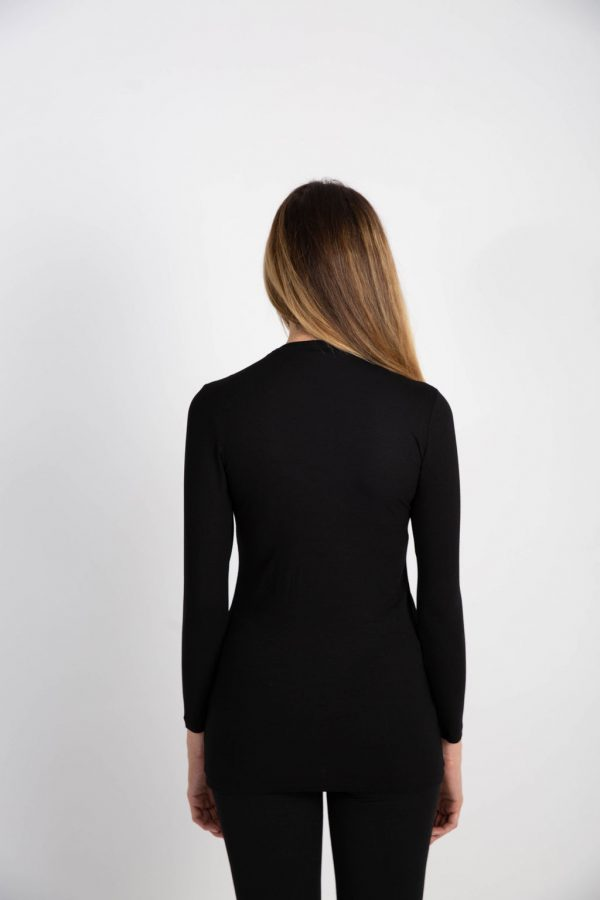 black long sleeve formal wear
